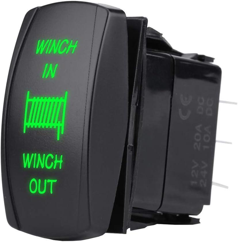 Interrupteur /à bascule interrupteur /à bascule laser noir /à laser noir de 12V 24V a men/é la lumi/ère men/ée pour des yachts de voitures Bleu