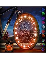 Activ Life LED Bike Wheel Lights with Batteries Included! Get 100% Brighter and Visible from All Angles for Ultimate Safety & Style (1 Tire Pack)
