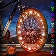 Activ Life LED Bike Wheel Lights with Batteries Included! Get 100% Brighter and Visible from All Angles for Ul