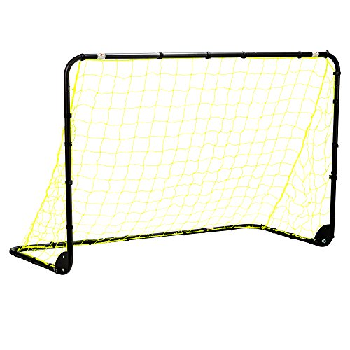 Franklin Sports Premier Black Folding Steel Soccer Goal - 6 x 4 (Steel Rebounder)