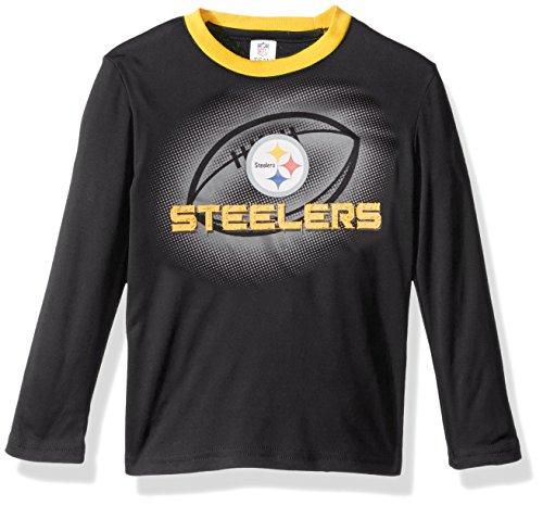 NFL Pittsburgh Steelers Unisex-Baby Long-Sleeve Tee, Steelers, 12 Months