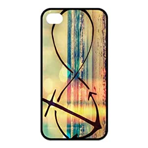 iPhone 4 4S Case,Infinity Anchor Refuse To Sink Hign Definition Wonderful Design Cover With Hign Quality Plastic Protective Rubber Case