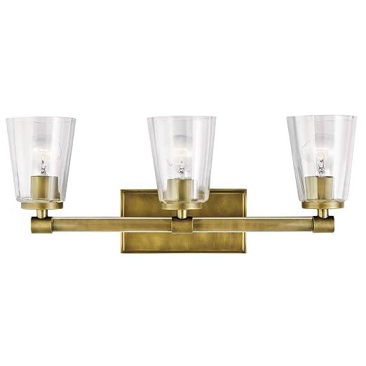 Amazon.com: Vanity - Lámpara de baño (3 focos de acero con ...