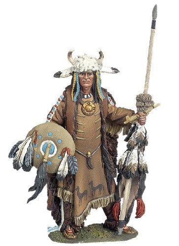 Collectible Toy Soldiers 1/32 Scale Payute Chief Far West Indians Black Hawk Metal Figure New in Box BH-0201 by Black Hawk
