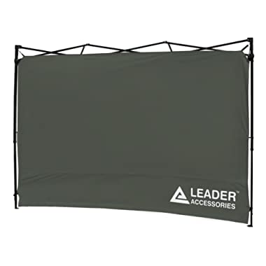 Leader Accessories Instant Canopy SunWall Side Wall for 10x10 Feet, 10x20 Feet Straight Leg pop up Canopy, 1 Pack Side Wall Only, Grey