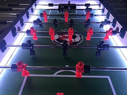 Warrior profesional futbolín mesa w/LED: Amazon.es: Deportes y ...