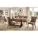 Homelegance Marie Louise 9 Piece Dining Room Set in Rustic Brown
