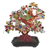 Multi Gemstone Tree With Chinese Coins