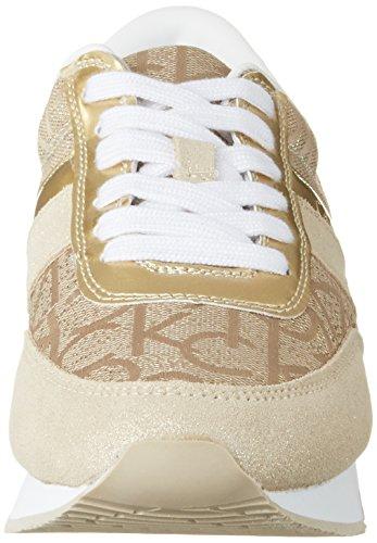 Calvin Gold Klein Metallic Basses Sneakers Femme Noir Suede Or Jeans Tea Jacquard PFwdPrq
