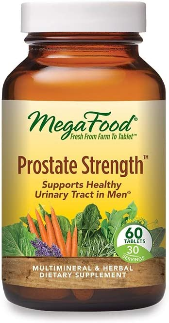 MegaFood, Prostate Strength, Supports Healthy Urinary Function in Men, Multimineral and Herbal Supplement, Vegan, 60 Tablets (30 Servings)