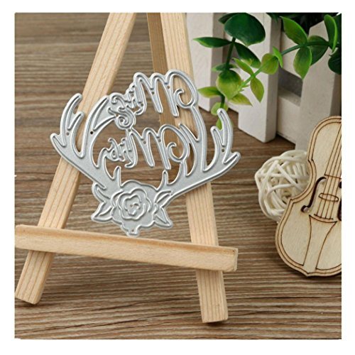Euone Metal Cutting Dies Stencil DIY Scrapbooking Embossing Album Paper Card Craft (A)