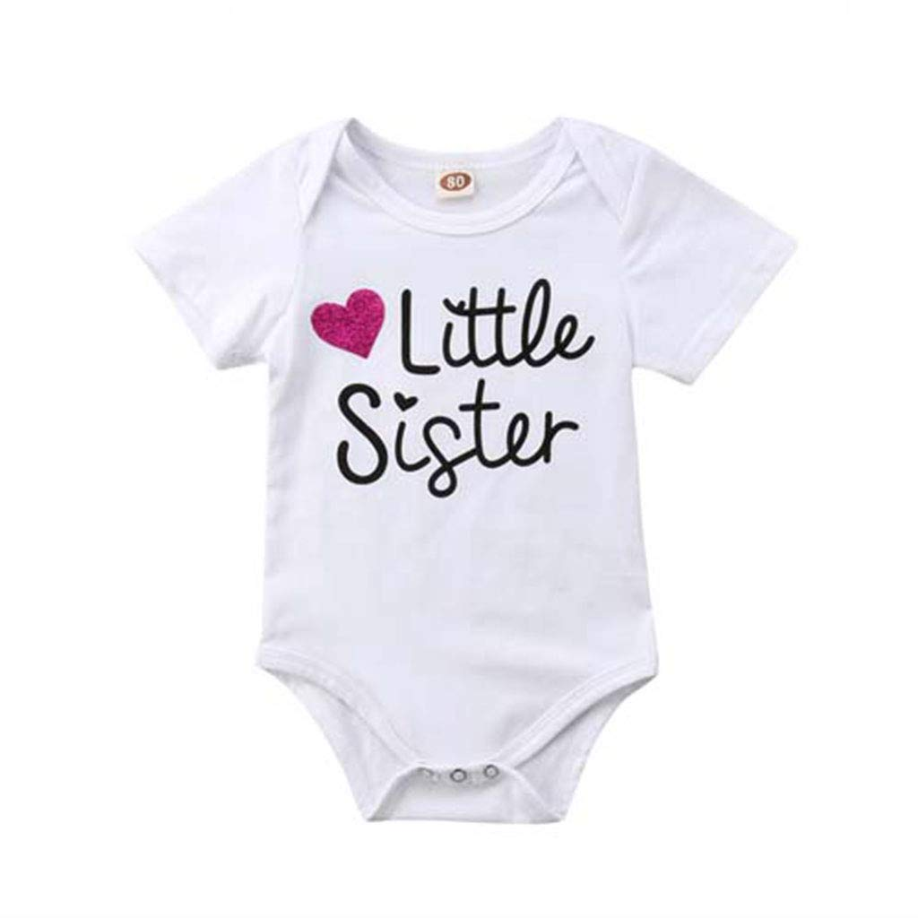 Family Clothes Matching Cotton Letter Clothes Big Brother Kid Boy T-Shirt Tee Little Sister Baby Girls Bodysuit Outfits
