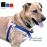 Walk Your Dog With Love, No-Pull Front-Attachment Harness (Black Night, 25-65 pounds)