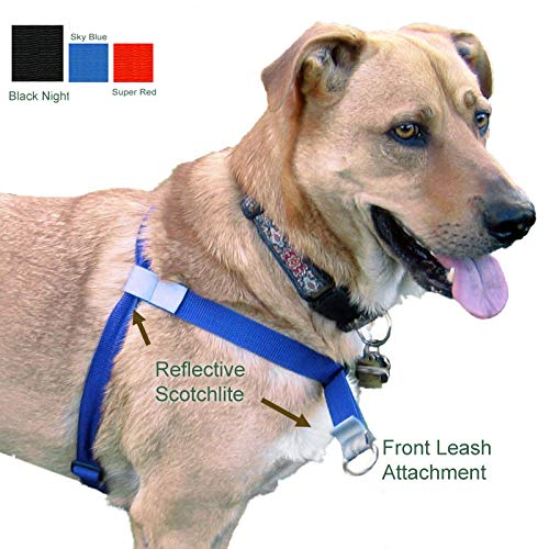 Walk Your Dog with Love, No-Pull Front-Attachment Harness (Black Night, 55-120 pounds)