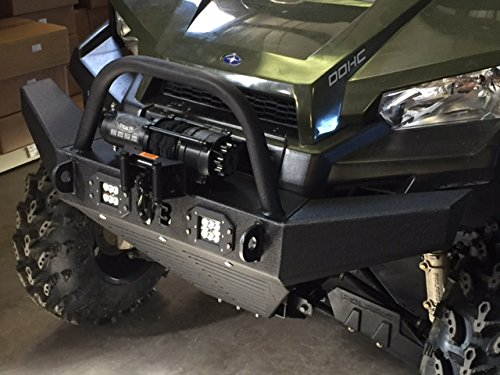 (Polaris Ranger Mid Size Front Winch Bumper w/LED Lights)
