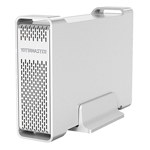 Yottamaster Aluminum USB3.0 3.5'' Hard Drive Enclosure 10TB for 3.5 Inch SATA HDD [Support UASP] by Yottamaster