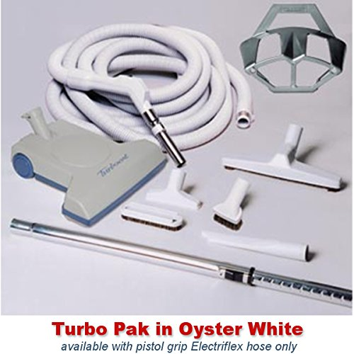 Central Vacuum Turbo Brush Cleaning Set Featuring a Vacuf...