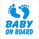 Blue Baby Feet Baby on Board Novelty...