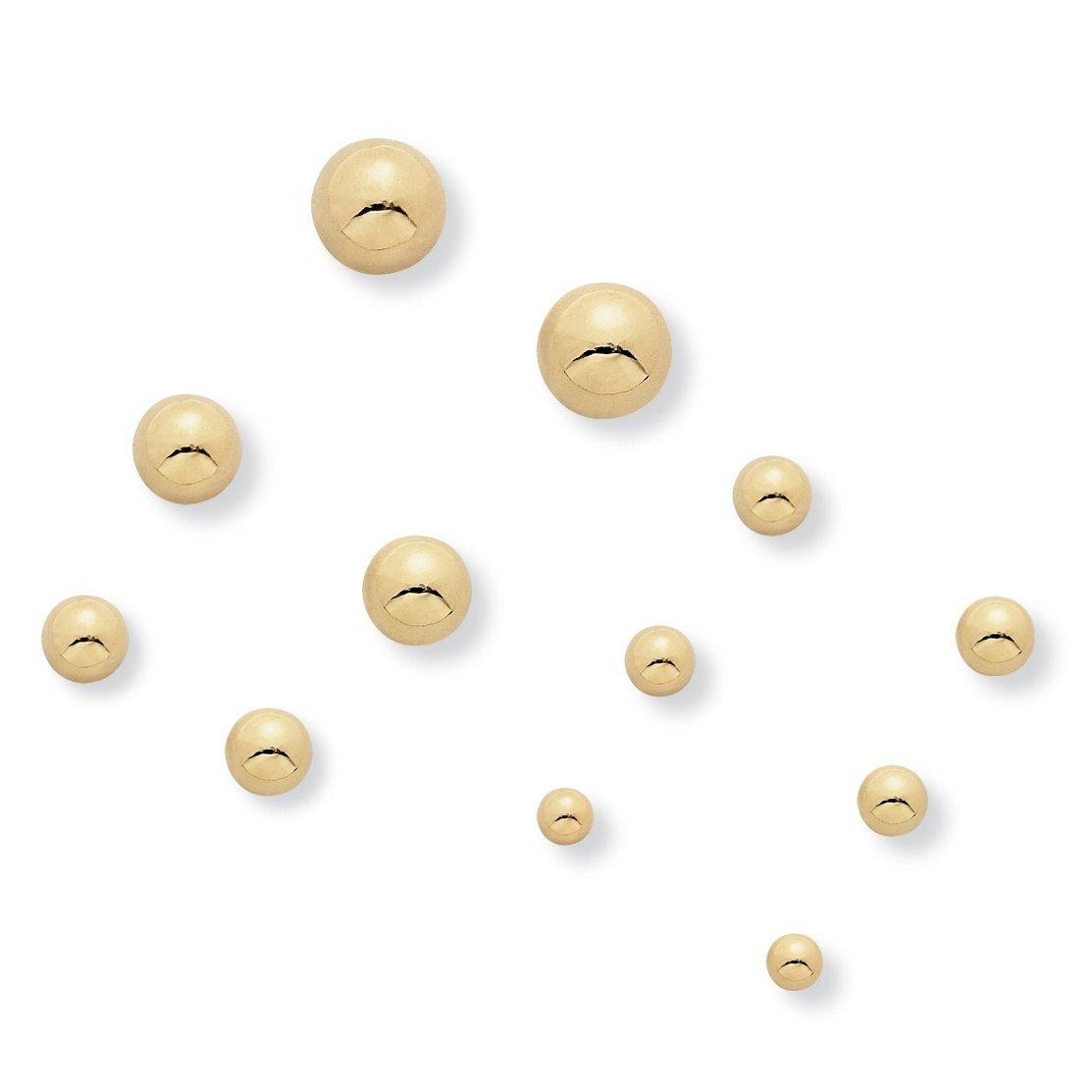 Goldtone 5 Pair Ball Stud Earring Set