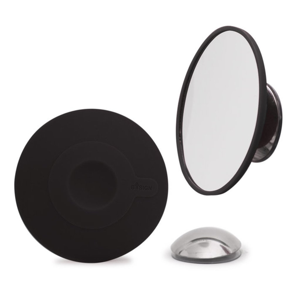Bosign Cosmetic Mirror 15 x Magnification with Magnetic Extension Bar, Black