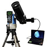Black 90mm Portable Computer Controlled Telescope with 14MP Digital USB Camera