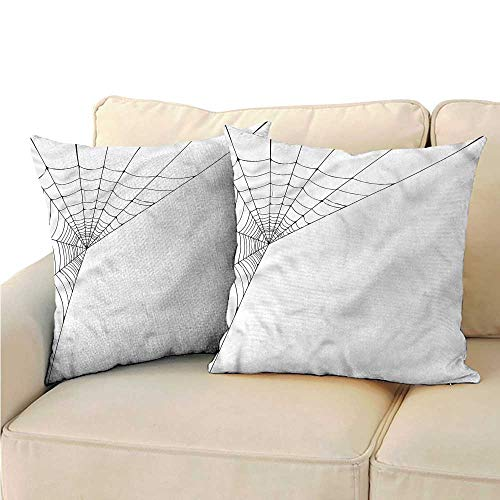 (RuppertTextile Modern Square Pillowcase Spider Web Icon Halloween Anti-Fading W13 x)