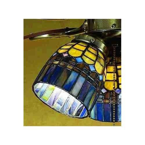 Meyda Tiffany 27466 Stained Glass / Tiffany Fan Light Kit Glassware from the Tif, Tiffany Glass