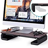 Adjustable Monitor Stand Klearlook Computer Monitor Riser with Storage Drawer Tablet & Phone
