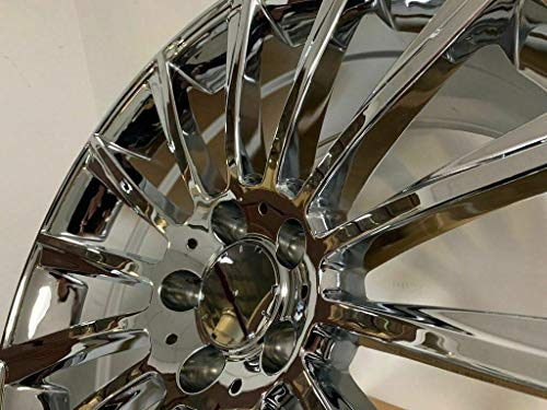NEW 20 Inch x 8.5/9.5 S AMG Turbine Style Staggered Wheels Rims 5 lug Chrome compatible with S500 S550 S400 S600 S55AMG MERCEDES BENZ Set of 4 (Amg Rims 20)