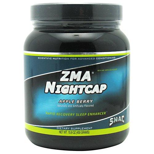 SNAC ZMA Nightcap Rapid Recovery Sleep Enhancer Drink Mix, Apple Berry, 450 Grams (15.9 Ounce)