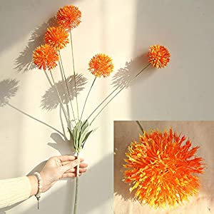 Coohole-Love and Gift Artificial Silk Artificial Flowers Dandelion Floral Wedding Bouquet Hydrangea Decor 26