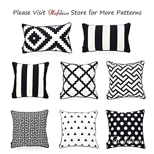Hofdeco Decorative Throw Pillow Cover INDOOR OUTDOOR WATER RESISTANT Canvas Modern Black Dots 18''x18'' by Hofdeco (Image #6)