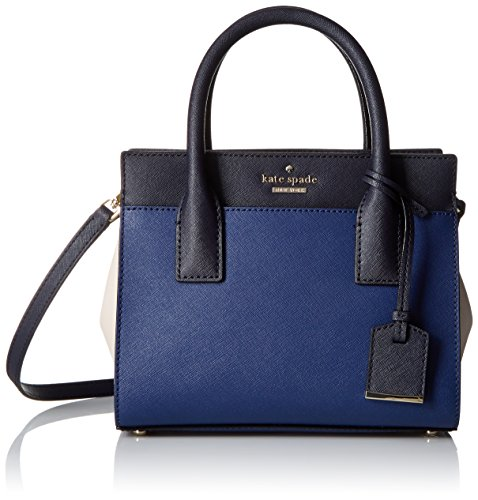 kate spade new york Cameron Street Mini Candace Satchel Bag, Ocean Blue/Off Shore/Crisp Linen, One Size