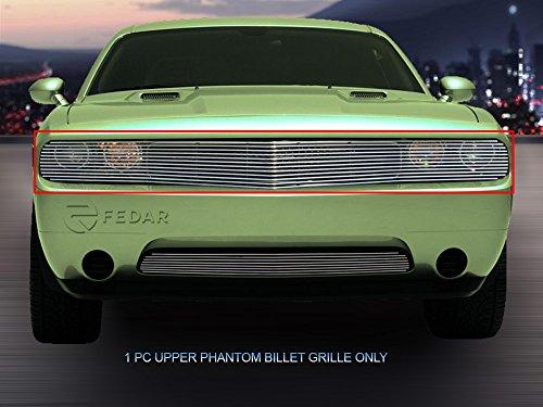 Fedar For 2009-2014 Dodge Challenger Phantom Bolt Over Style Polished Billet Grille Grill -