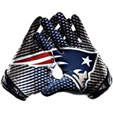 NIKE England Patriots NFL Vapor Jet 2.0 On Field Elite Receiver's Gloves Navy M