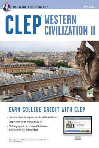 By Dr. Preston Jones Ph.D. CLEP?? Western Civilization II Book + Online (CLEP Test Preparation) (Second Edition, Revised) [Paperback]