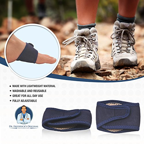 Dr. Frederick's Original Arch Support Brace Set - Two Orthotic Insole Wraps for Plantar Fasciitis and Flat Feet - Fast Relief of Foot Pain by Dr. Frederick's Original (Image #2)