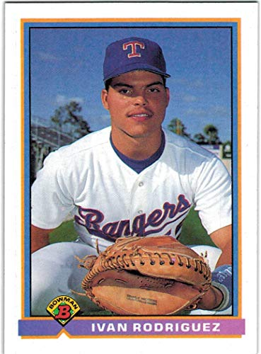 (1991 Bowman Texas Rangers Team Set with Nolan Ryan & Ivan Rodriguez RC - 29 MLB Cards )
