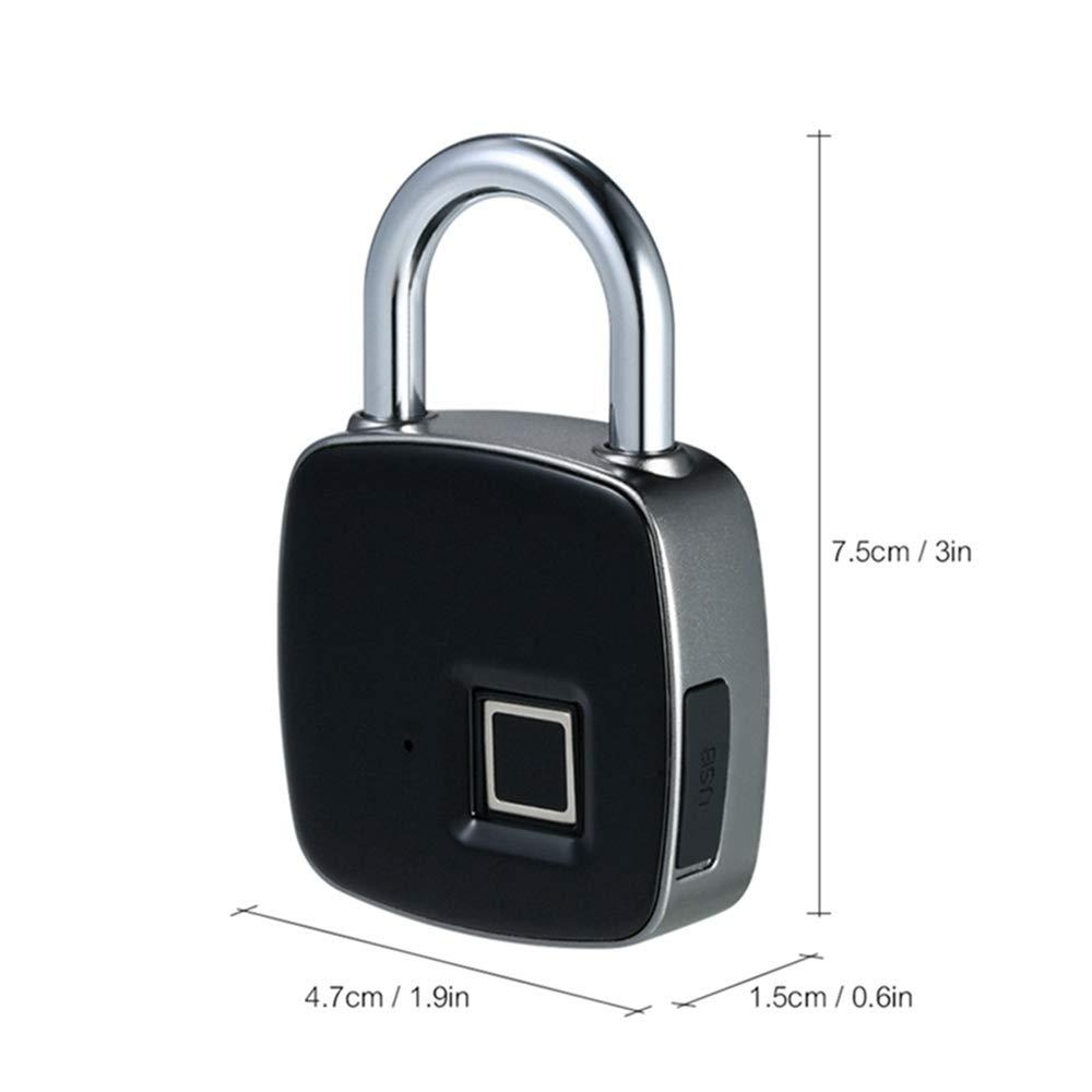 Intelligente Elektronik Usb Aufladbare Smart Keyless Fingerprint Lock Ip65 Wasserdichte Anti-theft Sicherheit Vorhängeschloss Tür Gepäck Fall Schloss Gute QualitäT