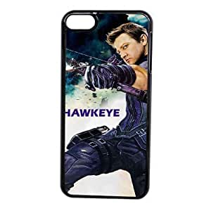 Custom made Case,Hawkeye Cell Phone Case for iPod touch 6,Black Case With Screen Protector (Tempered Glass) Free S-7257505