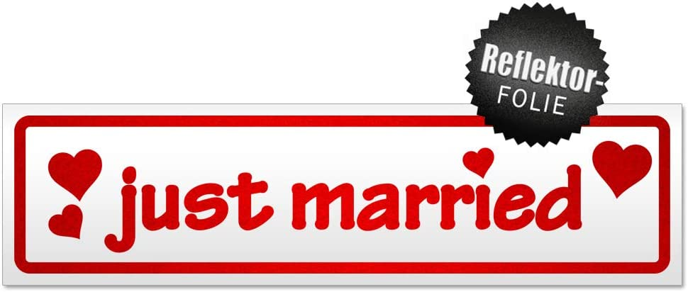 Kiwistar Just Married Magnetschild Schild magnetisch