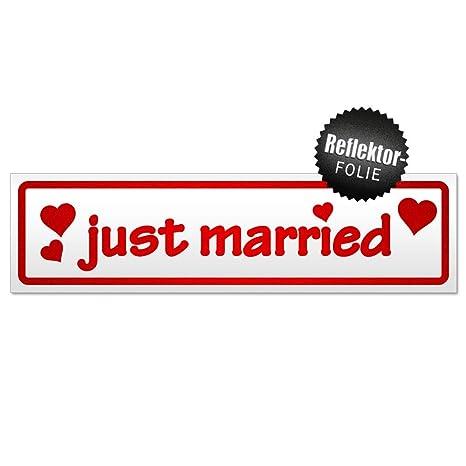 Kiwistar Just Married Magnetschild Schild magnetisch