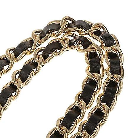 Abuyall DIY Iron Flat Chain Strap Handbag Accessories Metal Replacement Straps C