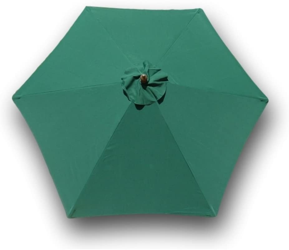 Formosa Covers 9ft Umbrella Replacement Canopy 6 Ribs in Hunter Green (Canopy Only)