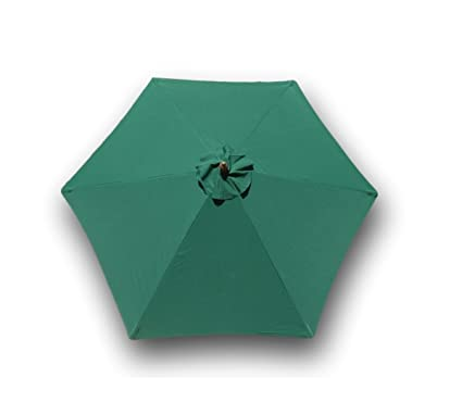 9ft Umbrella Replacement Canopy 6 Ribs In Green Canopy Only