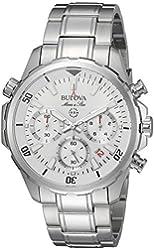 Bulova Men's Quartz Stainless Steel Dress Watch, Color:Silver-Toned (Model: 96B255)