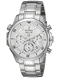 Bulova Mens 96B255 Dress White Dial Watch
