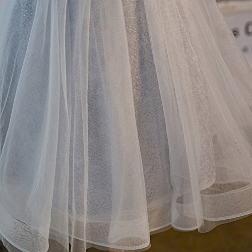 Scothen Perl A de Tulle Banda vestido cóctel Tulle Sash de bola línea bordado noche Perl vestido redondo Festivo cuello Bordado Aplique de Vestido Mujeres vestido Encaje vestido de Bordado gris honor Boda rzrWgqF
