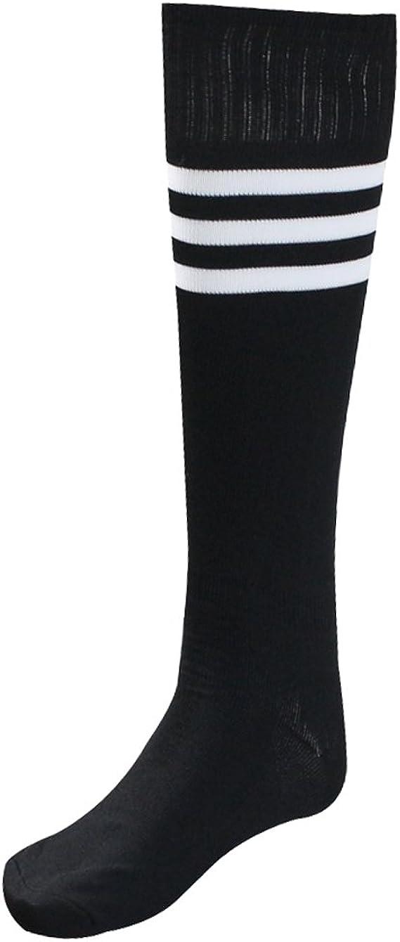 Men Women Hosiery Running Knee High Stripe Football Long Tube Socks Sport Soccer