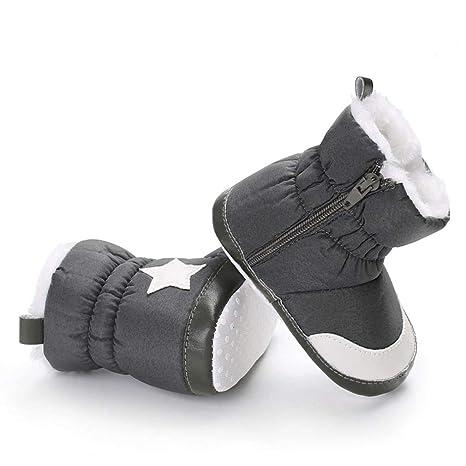 Fuxitoggo Zapatos para niños, Botines de algodón Suave para niña bebé, Botas para la Nieve, niños pequeños, recién Nacidos, Zapatos de Calentamiento para ...